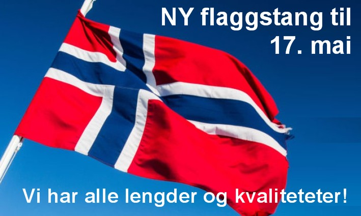 Flaggstenger –  Leverer over hele Norge