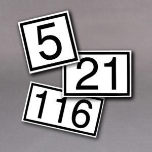 Husnummer skilt